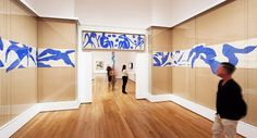 """Henri+Matisse:+The+Cut-Outs\""+at+MoMA I need to do a quilt like this - tan with blue/white in middle band - nice!"