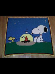 Crochet Snoopy Afghan
