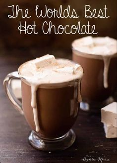 This recipe is the worlds best hot chocolate, I enjoy a cup of this every mornin. - Best Co. This recipe is the worlds best hot chocolate, I enjoy a cup of this every mornin. Homemade Hot Chocolate, Hot Chocolate Bars, Christmas Hot Chocolate, Hot Chocolate With Cocoa Powder, Crock Pot Hot Chocolate Recipe, Best Hot Chocolate Recipes, Healthy Hot Chocolate, Mexican Hot Chocolate, Hot Cocoa Mixes