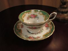 Tuscan Naples Bone China Cup and Saucer by CastleChina on Etsy