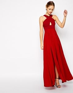 Enlarge ASOS Cross Front Super Full Maxi Dress