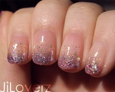 Base was a pink French with CC silver glitter and ChG snow globe