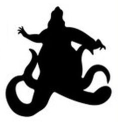 Ursula - The Little Mermaid silhouette