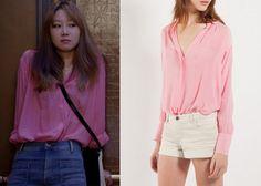 """Gong Hyo-Jin 공효진 in """"It's Okay, That's Love"""" Episode 3.  Maje Figene Collared Shirt #Kdrama #ItsOkayThatsLove 괜찮아, 사랑이야 #GongHyoJin"""