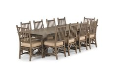 Rustic Table 3123 and Rustic Chair 1204 - Rustic Dining at it's best from La Lune Collection!