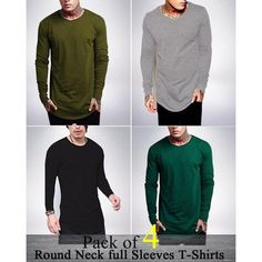 526eaabf099 Pack Of 4 Round Neck Full Sleeves T-Shirts For Men - ABZ-2291 S
