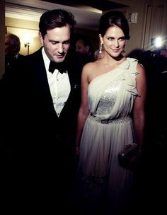 Madeleine de Suède et son fiancé Christopher O'Neill prenaient part le 7 novembre 2012 au Yale Club de New York à la cérémonie de remise du Raoul Wallenberg Civic Courage Award.