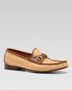 Hannover Straw Bit Loafer by Gucci at Bergdorf Goodman.