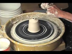 How to Make a Textured Square Mug on the Potters Wheel - BILL WILKEY - YouTube