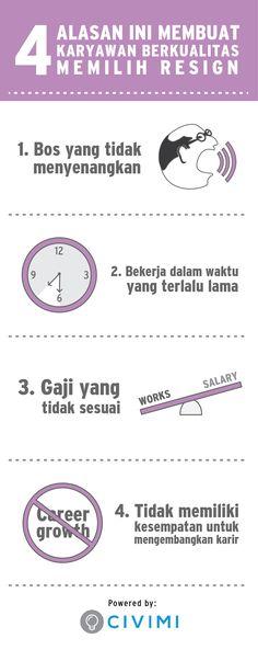 4 Alasan Ini Membuat Karyawan yang Berkualitas Memilih Resign (Infographic)