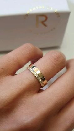 Thick Wedding Bands, Wedding Rings Sets His And Hers, Wedding Ring Bands, His And Her Engagement Rings, Engagement Rings Couple, Mens Ring Designs, Gold Ring Designs, Unique Mens Rings, Classic Wedding Rings