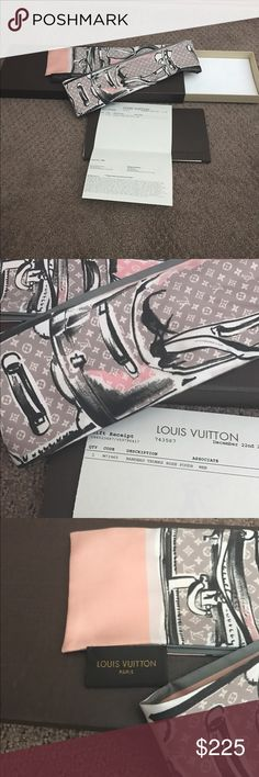 Authentic Louis Vuitton Trunks Bandeau 100% Authentic Louis Vuitton Trunks Bandeau Scarf! Comes with all packaging and receipt with my personal information blacked out. I had this tied on my bag for about a week. No flaws! Smoke free home. Louis Vuitton Accessories Scarves & Wraps
