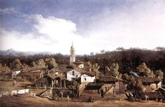 Bernardo Bellotto - View of Gazzada near Varese.