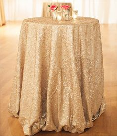 Matte Gold Sequin Round Table Cloths by OnlyLoveInLife on Etsy