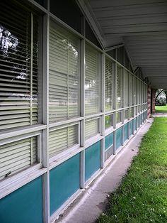 Mid Century Modern School Windows