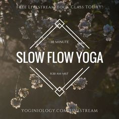 Try this 30 minute slow flow yoga class!