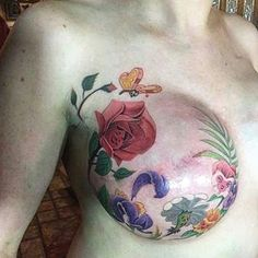 "Some breast cancer survivors are refusing to let cancer leave the ""last mark"" on their bodies. For women who have lost their breasts when a mastectomy was the only treatment option, inspirational mastectomy tattoos have turned tragedy into breathtaki"