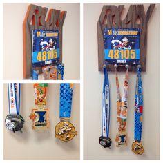 Medal holder. marathon medals. run. Nike. Disney Marathon. Miami beach marathon. ING Miami marathon. running plaque wood sign. wood letters. wood word.