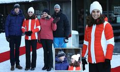 Kate and William watch skiers at Holmenkollen