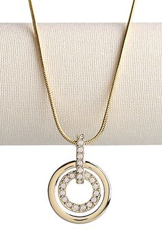Yellow Gold Swarovski Necklace. Perfect for any outfit!