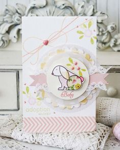 Bitty Baby Blessings Revisited: Adoption Wishes Card by Melissa Phillips for Papertrey Ink (May 2015)