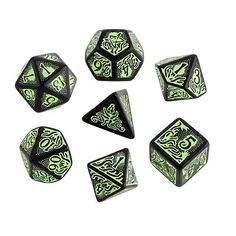 Call of Cthulhu Dice (7th Edition), Black/Green