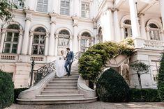 Wedding_Vienna_Palais_Coburg_19 Vienna, Sidewalk, Street View, Mansions, House Styles, Wedding, Newlyweds, Valentines Day Weddings, Manor Houses