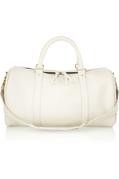 // clare vivier . large duffle textured leather bag