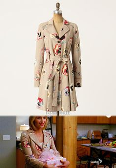 floral trench, Quinn Fabray, Glee