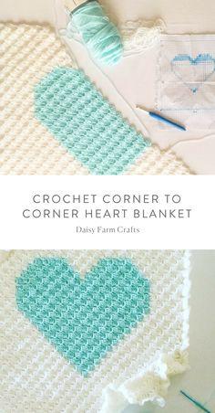 Free Pattern - Crochet Corner To Corner Heart Blanket Crochet # kostenloses muster - häkeln von ecke zu ecke herzdecke häkeln # patron gratuit - crochet coin à coin coeur couverture crochet Crochet Afghans, Crochet Heart Blanket, Corner To Corner Crochet Blanket, Crochet Poncho, Crochet Blankets, Baby Blankets, Crochet Letters, Crochet Hooks, Free Crochet