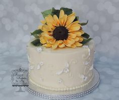 Sunflower Fun - Cake by Joy Thompson at Sweet Treats by Joy