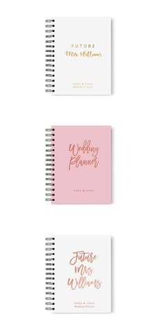 Comprehensive wedding planner book with personalized covers. Perfect as an engagement gift or 'just because' gift for the bride-to-be. Best Wedding Planner Book, Bridal Planner, Wedding Notebook, Wedding Book, Wedding Day, Wedding Gifts, Budget Wedding, Wedding Planning, Wedding Advice