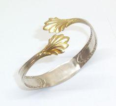 """Armreif """"Goldene Zuckerzange"""" Silberarmreif  AB104 von Atelier Regina auf DaWanda.com"""