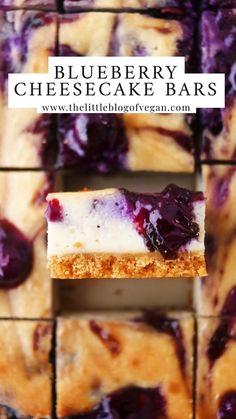 Vegan Treats, Vegan Desserts, Delicious Desserts, Yummy Food, No Bake Blueberry Cheesecake, Blueberry Cake, Cheesecake Recipes, Junk Food, Coconut Recipes