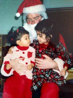 A Christmas #tbt with my sister @Priya Almeida and Santa Claus