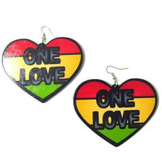 Check out this item in my Etsy shop https://www.etsy.com/listing/529961552/one-love-heart-earrings-wood-earrings