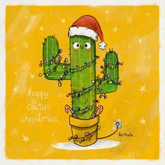 Christmas Cactus  #christmas #cactus #lights #christmastime #cartoon #illustration #drawing #painting #sketchbook #sketch #doodle #photoshop #digitalart #justforfun #characterdesign #character #conceptart #concept #design #childrensbook #children #kidlit #kidlitillustration