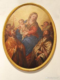 """L'opera """"Madonna col Bambino e i santi Celestino e Anselmo"""" (1717) di Pietro Fabbri si trova al Museo Diocesano di Mantova."""