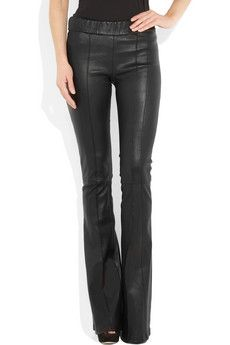 Roberto Cavalli Stretch-Leather Flared Pants
