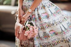 Chicwisg paris skirt, Inspiration, street style, pink, pastel , flowers