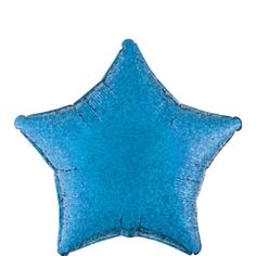 Foil Prismatic Blue Star Balloon - Party City