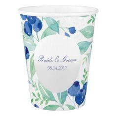 Blueberry Midsummer Rustic Wedding Paper Cup