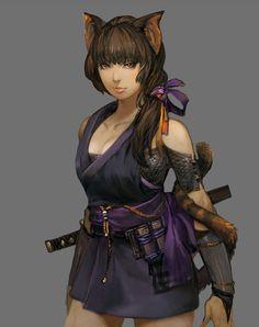 ✧ #characterconcepts ✧ Ninja - Stranger of Sword City [RPG]