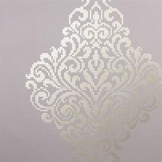 This modern damask wallpaper is designed with a glorious scale and the cultured design of a mosaic tile.