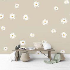 Daisy Decals - Project Nursery Boho Nursery, Nursery Room, Girl Nursery, Girl Room, Floral Nursery, Bedroom, Flower Wall Decals, Nursery Wall Decals, Accent Wall Nursery