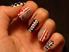 David Bowie inspired nail art