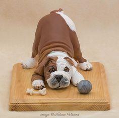 English Bulldog Art, Polymer Clay Dog Sculpture, Unique Dog Lover Gift