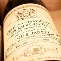 1993 Louis Jadot Gevrey-Chambertin 1er Cru Clos St. Jacques Côte de Nuits Burgundy France Deeper and richer expression of Gevrey fruit with some Vosne-like sumptuousness. On the palate there are layers of strawberry and sweet spicy. Good complexity. Fine-grained tannins leads to a very long finish Clos Saint-Jacques is one of the few Gevrey-Chambertin Premier Crus considered of Grand Cru quality. It is located on southeast-facing slopes on the Cote d'Or escarpment whose limestone-rich soils…