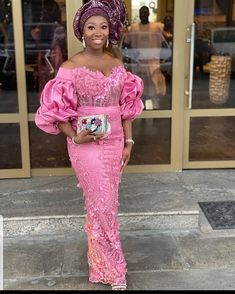 Most Beautiful Asoebi Styles for This Week - Ankara collections brings the latest high street fashion online Nigerian Lace Styles Dress, Aso Ebi Lace Styles, African Lace Styles, Lace Dress Styles, African Style, Ankara Styles, African Wear Dresses, Latest African Fashion Dresses, African Print Fashion