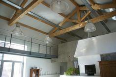 déco plafond cathédrale poutres loft